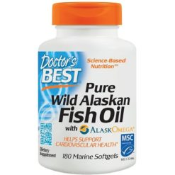 Doctor's Best Pure Wild Alaskan Fish Oil with AlaskOmega - 180 softgels
